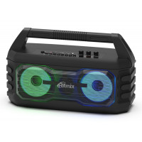 SP-610B Портативная Bluetooth-колонка Ritmix, TF, USB, MP3, FM, AUX, чёрная