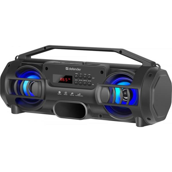 Колонка портативная Defender G104 Bluetooth, 12 Вт, USB/FM/TF, TWS, чёрный