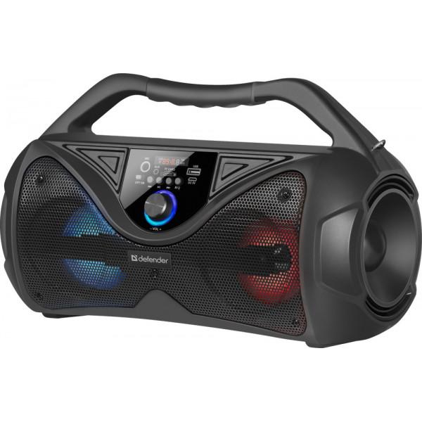 Колонка портативная Defender G108 Bluetooth, 20 Вт, USB/TF/FM/LED, чёрный