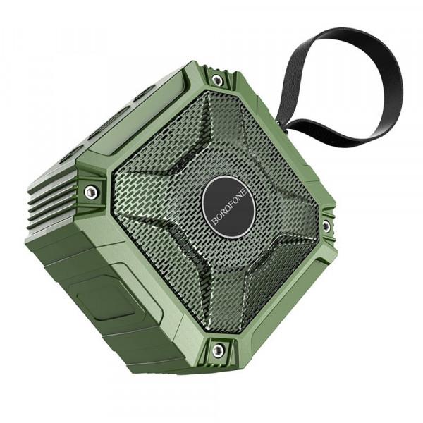 Колонка Bluetooth Borofone BP6 (microSD USB AUX FM), TWS, зелёная