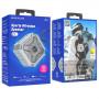 Колонка Bluetooth Borofone BP6 (microSD USB AUX FM), TWS, серая