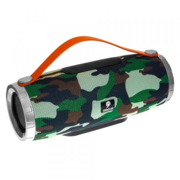 Колонка Bluetooth Celebrat SP6 (USB/TF/AUX/FM), камуфляж