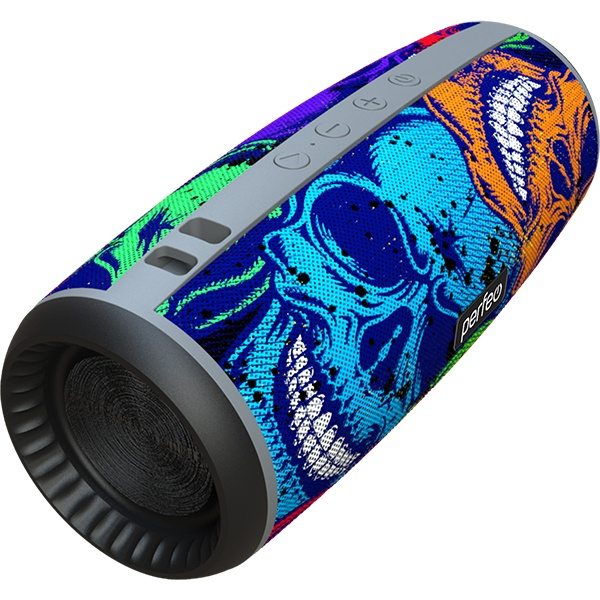 "PF_A4978 Perfeo беспровод. колонка ""SKULLS"" Bluetooth, USB, TF, AUX, FM, 12Вт, граффити черепа"