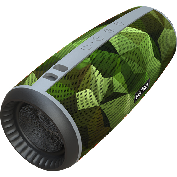"PF_A4979 Perfeo беспровод. колонка ""CAMU"" Bluetooth, USB, TF, AUX, FM, TWS, мощность 12Вт, камуфляж"