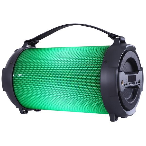 """PF_B4187 Perfeo беспровод. колонка """"TERCERO LIGHT"""" Bluetooth, USB, TF, AUX, FM, 18Вт, чёрная с подсветкой"""