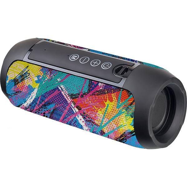 """PF_B4697 Perfeo беспровод. колонка """"STREET ART"""" Bluetooth, USB, TF, AUX, FM, TWS, 10Вт, чёрная с рисунком"""