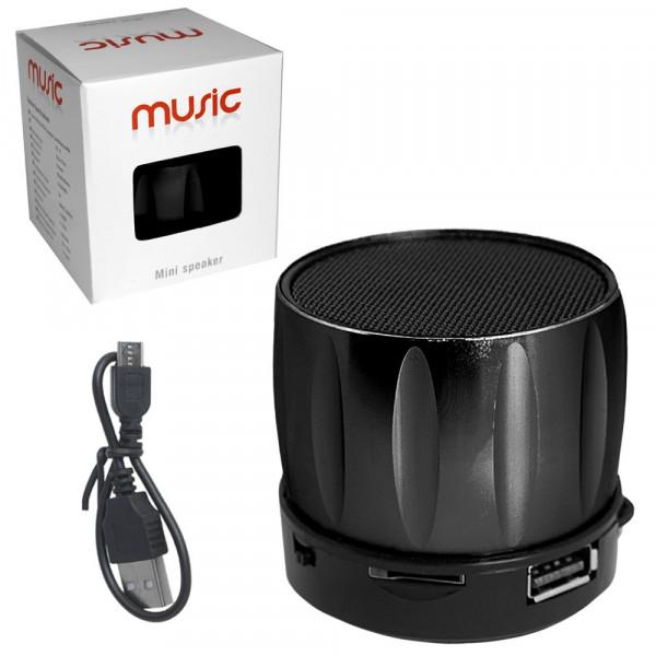 Колонка Bluetooth S13U-1 (USB/TF/FM) чёрная