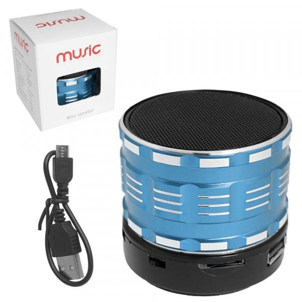 Колонка Bluetooth S27U-1 (USB/TF/AUX/FM) синяя