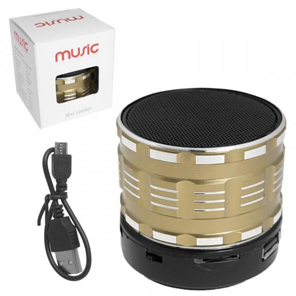 Колонка Bluetooth S27U-1 (USB/TF/AUX/FM) золотистая