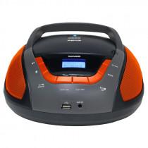 Аудиомагнитола Telefunken TF-CSRP3496B (2Вт/CD/CDRW/MP3/FM/USB), чёрн/оранж