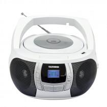 Аудиомагнитола Telefunken TF-CSRP3498B (2Вт/CD/CDRW/MP3/FM/USB), чёрн/белый