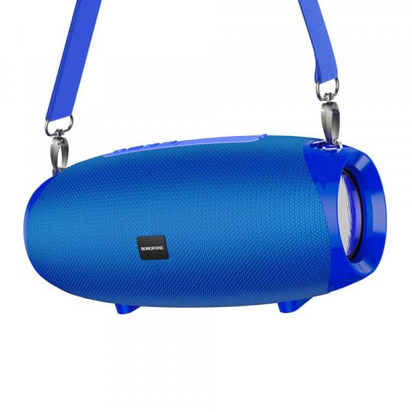 Колонка Bluetooth Borofone BR12 (microSD USB AUX FM), TWS, синяя