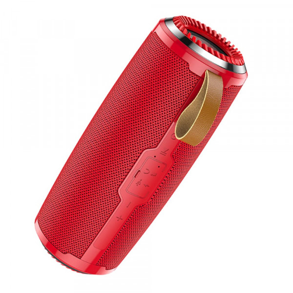 Колонка Bluetooth Hoco BS38 Cool freedom (USB/TF/AUX/FM) TWS, красный