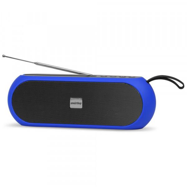 SBS-480 Портативная Bluetooth-колонка Smartbuy RADIO ACTIVE, 10 Вт, USB, TF, MP3, FM, синяя