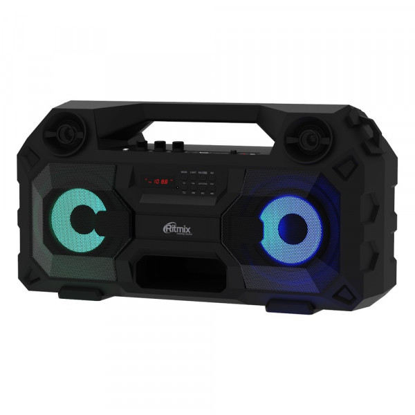 SP-690B Портативная Bluetooth-колонка Ritmix, TF, USB, MP3, FM, AUX, чёрная