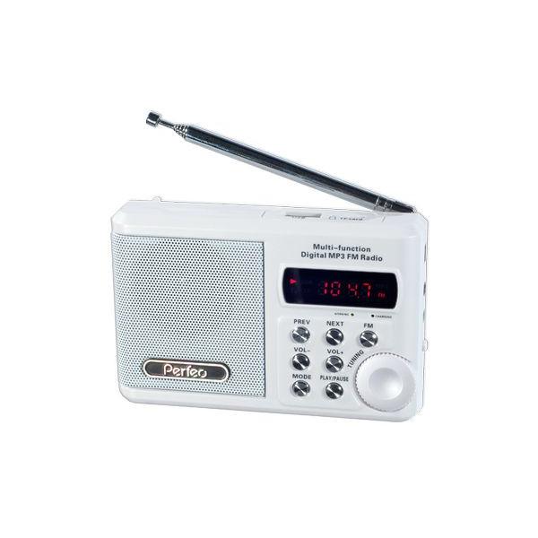 PF-SV922WT Perfeo мини-аудио Sound Ranger, УКВ+FM, MP3 (USB/microSD), AUX, BL-5C 1000 mAh, белый