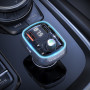 MP3 FM Modulator Borofone BC32 Bluetooth, 2USB, 2.4A, QC 3.0, с дисплеем, подсветка, чёрный