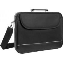 Сумка для ноутбука ASCETIC 15'-16', чёрный, жёсткий каркас, карман Defender