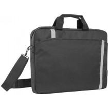 Сумка для ноутбука Shiny 15'-16', чёрный, светоотражающая полоса, Defender