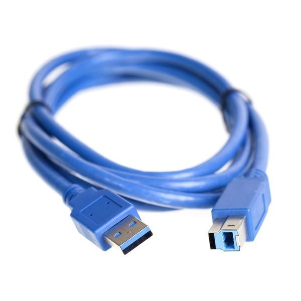 Кабель (K-555) USB 3.0 A-->B 1,8 m в пакете SmartTrack/Smartbuy