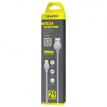 Кабель USB- 8-pin AWEI CL-63, белый пластик штекер, 1м, круглый белый ПВХ, 2.5 A