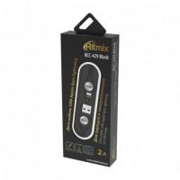 Кабель USB- 8-pin Ritmix RCC-429, чёрный пластик штекер, 1м,  круглый чёрный ткань