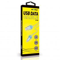 Кабель USB- 8-pin SmartBuy iK-512ssbox, с индикацией, 1 м, белый