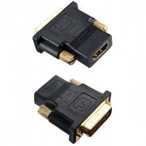 Переходник (A7004) Perfeo - HDMI A розетка - DVI-D вилка