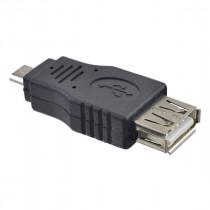 Переходник (A7015) Perfeo USB 2.0 A розетка - Micro USB вилка