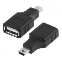 Переходник (A7016) Perfeo USB 2.0 A розетка - mini-USB вилка (200)
