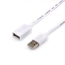 Кабель ATcom AT4717 USB 2.0 A вилка - А розетка, 5 м, белый