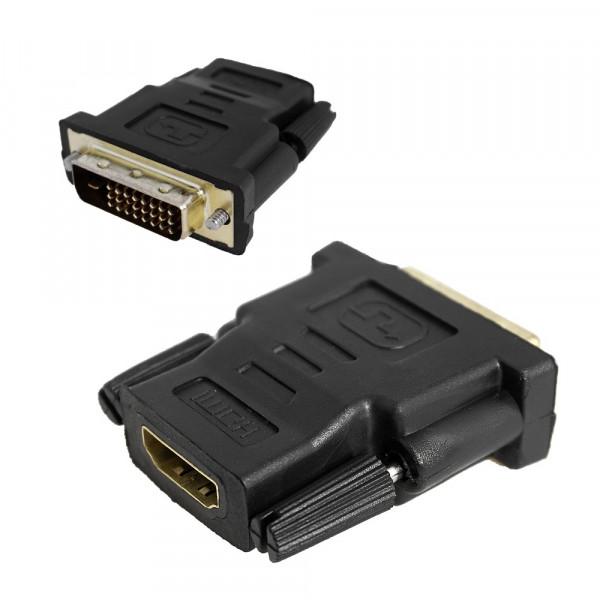 Переходник HDMI (F) - DVI-I (M), чёрный