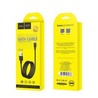 Кабель USB- Type-C Hoco X29, чёрный TPE штекер, 1 м, круглый чёрный TPE