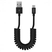 Кабель USB- micro-USB Deppa, витой, 1.5м, чёрный