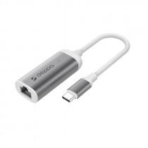 Переходник USB Type-C - Gigabit Ethernet, графит, Deppa