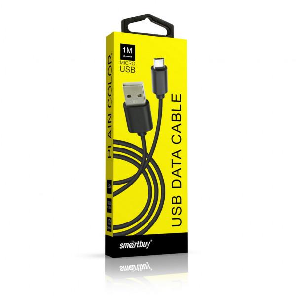 Кабель USB- micro-USB Smartbuy iK-12cbox, цветные, 1,2 м, чёрный