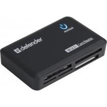 Картридер USB 2.0 Optimus USB 2.0, 5 слотов Defender, универсальный