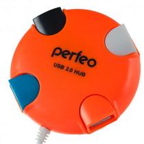 USB-хаб 4 порта PF-VI-H020 Perfeo оранжевый