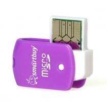 Картридер SBR-706-F MicroSD Smartbuy, фиолетовый