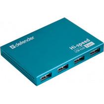 USB-хаб 7-портов Septima Slim USB2.0, блок питания 2A, Defender