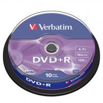 Диск DVD+R CB-10 4,7GB 16x VERBATIM
