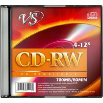 Диск CD-RW SL/5 80 4-12x  VS