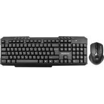 Комплект беспроводной Defender Jakarta C-805 RU, клавиатура+ мышь, мультимедийный, чёрный