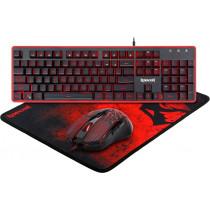 Игровой набор Redragon S107 RU, мышь+клавиатура+коврик