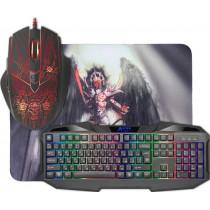 Игровой набор Defender Anger MKP-019 RU, мышь+клавиатура+коврик, чёрный