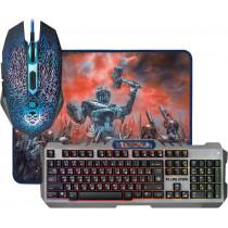 Игровой набор Defender Killing Storm MKP-013L RU, мышь+клавиатура+коврик, чёрный