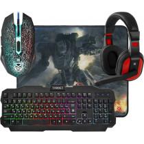 Игровой набор Defender Target MKP-350, мышь+клавиатура+гарнитура+коврик, чёрный