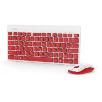 Комплект беспроводной SBC-220349AG-RW Smartbuy клавиатура+мышь мультимед, красно-белый