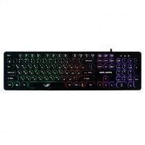 Клавиатура проводная игровая Dialog Gan-Kata KGK-16U, RGB подсветка, USB, чёрный