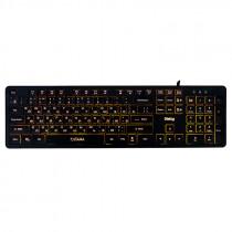 Клавиатура проводная Dialog Katana KK-ML17U, подсветка, мультимедиа, USB, чёрный